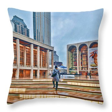 Steps To Fame Lincoln Center Throw Pillow