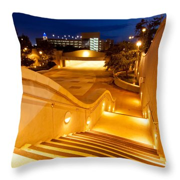 Steps To Kyle Field Throw Pillow by Linda Unger