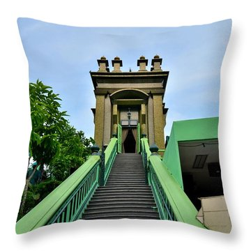 Steps To Muslim Mystic Shrine Singapore Throw Pillow by Imran Ahmed
