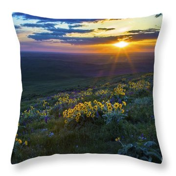 Steptoe Sunset Throw Pillow by Sonya Lang
