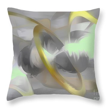 Sterling Desire Abstract Throw Pillow by Alexander Butler
