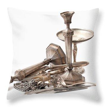 Sterling Silver  Throw Pillow by Gunter Nezhoda