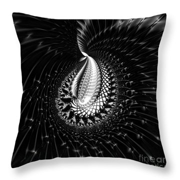 Sterling Silver Throw Pillow by Renee Trenholm