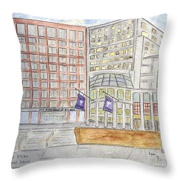 Nyu Stern School Of Business Throw Pillow