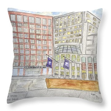 Nyu Stern School Of Business Throw Pillow