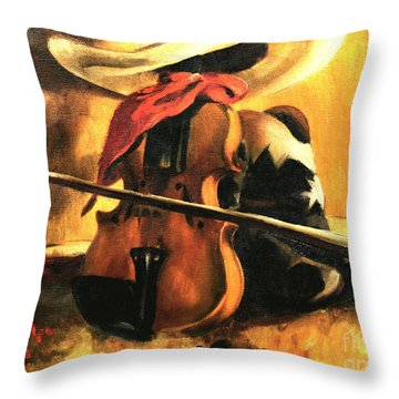 Stetson - Fiddle - Boots  Throw Pillow