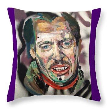 Steve Buscemi Throw Pillow by Britt Kuechenmeister