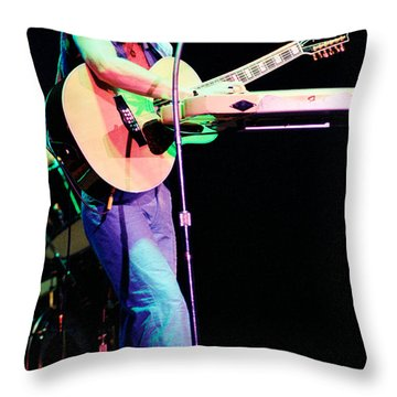 Steve Howe Of Yes 1980 Drama Tour Throw Pillow