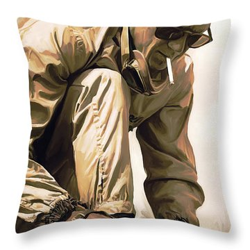 Steve Mcqueen Artwork Throw Pillow