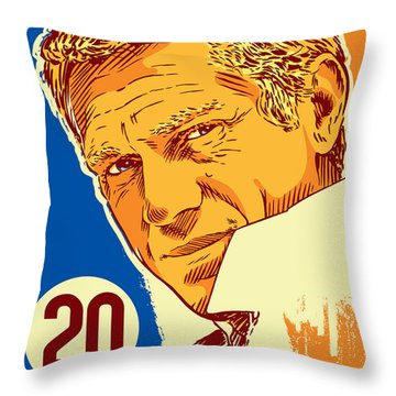 Steve Mcqueen Pop Art - 20 Throw Pillow