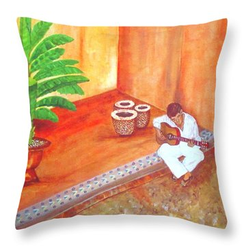 Steve While On Safari In South Africa Throw Pillow