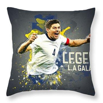 Steven Gerrard Throw Pillow by Taylan Apukovska