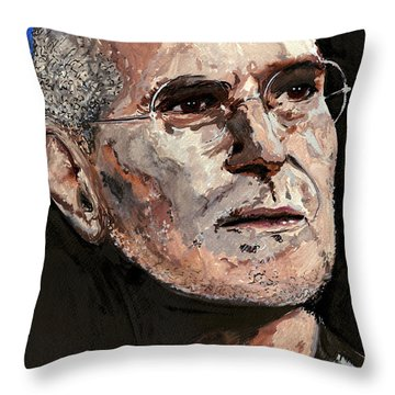 Throw Pillow featuring the painting Steven Paul Jobs by Gordon Dean II