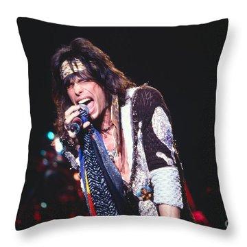Steven Tyler Throw Pillow by David Plastik