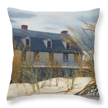 Stevens House Throw Pillow by Barbara Barber