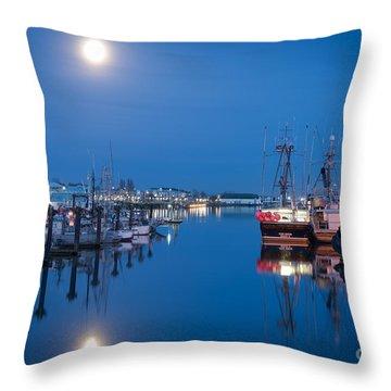 Steveston Harbour Throw Pillow