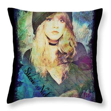 Stevie Nicks - Beret Throw Pillow