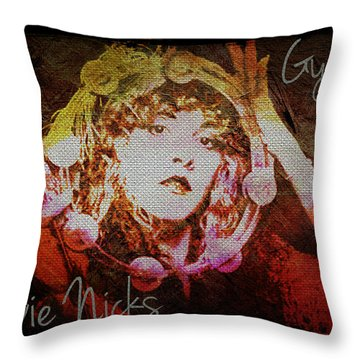 Stevie Nicks - Gypsy Throw Pillow