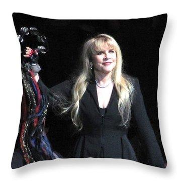 Stevie Nicks Throw Pillow by Melinda Saminski