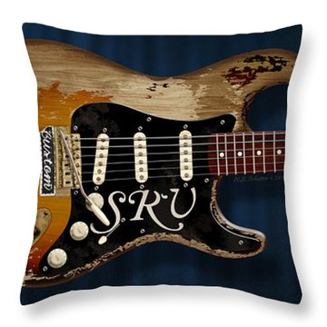 Stevie Ray Vaughan Stratocaster Throw Pillow