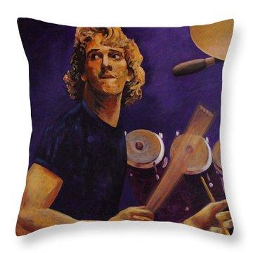 Stewart Copeland - The Police Throw Pillow by John  Nolan