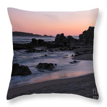 Stewart's Cove At Sunset Throw Pillow