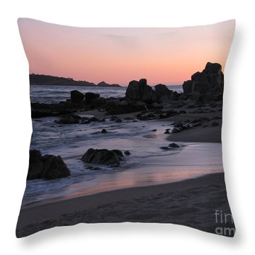 Stewart's Cove At Sunset Throw Pillow