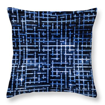 Stick Labyrinth Throw Pillow by Hakon Soreide