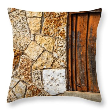 Sticks And Stone Throw Pillow by Melinda Ledsome
