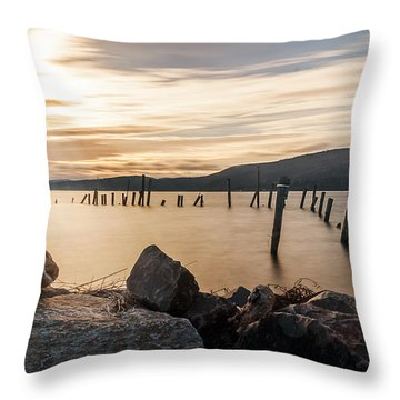 Throw Pillow featuring the photograph Stick's And Stone's by Anthony Fields
