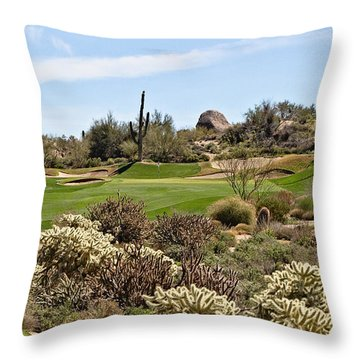 Sticky Approach Throw Pillow by Scott Pellegrin