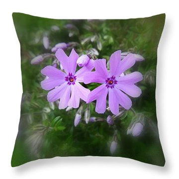 Sticky Phlox Throw Pillow by Nick Kloepping
