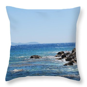 Throw Pillow featuring the photograph Stiff Breeze by George Katechis