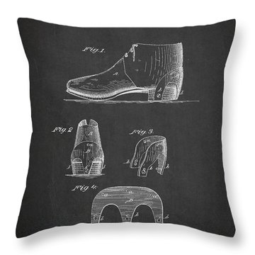 Stiffner For Boots And Shoes Patent Drawing From 1880 Throw Pillow by Aged Pixel