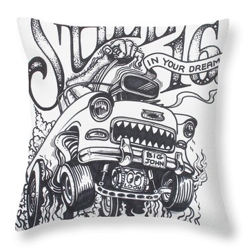 Throw Pillow featuring the drawing Still 16 In Your Mind by Alan Johnson