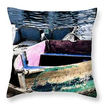 Still Afloat Throw Pillow by Mike Martin