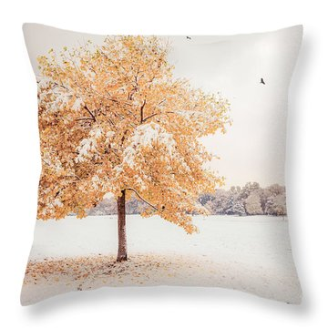 Still Dressed In Fall Throw Pillow