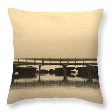 Throw Pillow featuring the photograph Still Lake by Clare Bevan