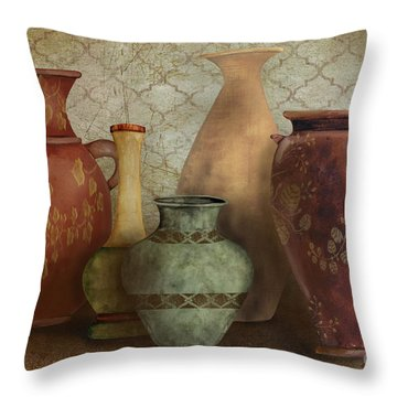 Still Life-a Throw Pillow by Jean Plout