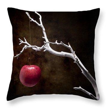 Still Life Apple Tree Throw Pillow