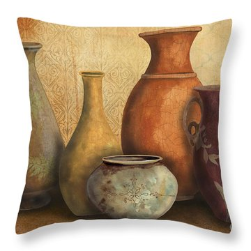 Still Life-c Throw Pillow by Jean Plout