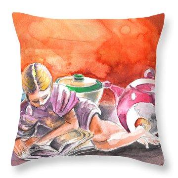Still Life In Loket  Throw Pillow by Miki De Goodaboom