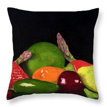 Still Life No. 3 Throw Pillow by Mike Robles