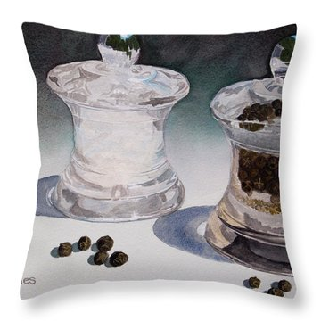Still Life No. 4 Throw Pillow by Mike Robles