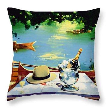 Still Life Regatta Throw Pillow