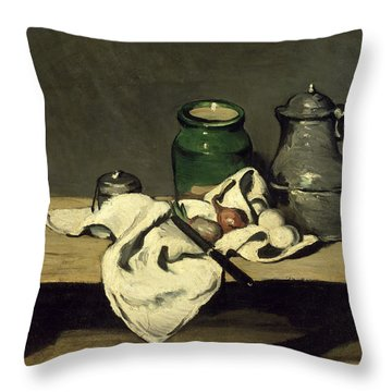 Still Life With A Kettle Throw Pillow