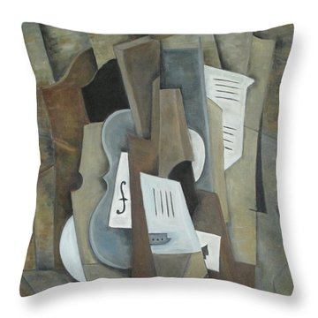 Still Life With Ace Of Spades Throw Pillow by Trish Toro