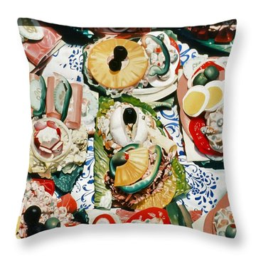 Still Life With Olives Throw Pillow