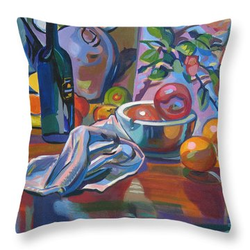 Throw Pillow featuring the painting Still Life With Oranges by Clyde Semler