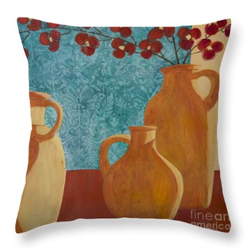Still Life With Orchids II  Throw Pillow